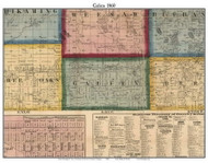 Galien, Michigan 1860 Old Town Map Custom Print - Berrien Co.