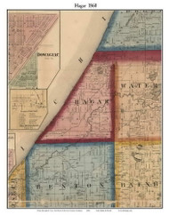 Hagar, Michigan 1860 Old Town Map Custom Print - Berrien Co.