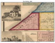 New Buffalo, Michigan 1860 Old Town Map Custom Print - Berrien Co.