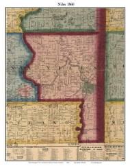 Noiles, Michigan 1860 Old Town Map Custom Print - Berrien Co.
