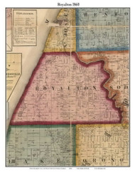 Royalton, Michigan 1860 Old Town Map Custom Print - Berrien Co.