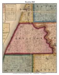 Royalton, Michigan 1860 Old Town Map Custom Print - Berrien Co.