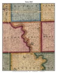 Sodus, Michigan 1860 Old Town Map Custom Print - Berrien Co.