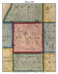 Weesaw, Michigan 1860 Old Town Map Custom Print - Berrien Co.