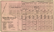 New Buffalo Village, Michigan 1860 Old Town Map Custom Print - Berrien Co.