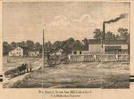 Galien Store & Saw Mill, Michigan 1860 Old Town Map Custom Print - Berrien Co.