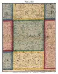 Calvin, Michigan 1860 Old Town Map Custom Print - Cass Co.