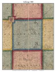 La Grange, Michigan 1860 Old Town Map Custom Print - Cass Co.