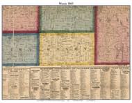 Mason, Michigan 1860 Old Town Map Custom Print - Cass Co.