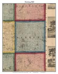 Newburg, Michigan 1860 Old Town Map Custom Print - Cass Co.