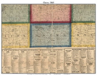 Ontwa, Michigan 1860 Old Town Map Custom Print - Cass Co.