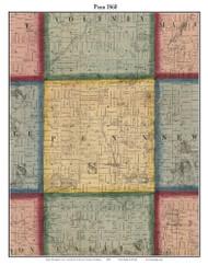Penn, Michigan 1860 Old Town Map Custom Print - Cass Co.
