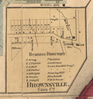 Brownsville, Michigan 1860 Old Town Map Custom Print - Cass Co.