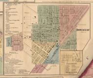 Dowagiac Village, Michigan 1860 Old Town Map Custom Print - Cass Co.
