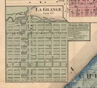 La Grange Village, Michigan 1860 Old Town Map Custom Print - Cass Co.