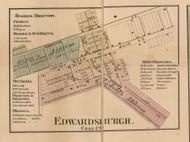 Edwardsburgh, Michigan 1860 Old Town Map Custom Print - Cass Co.