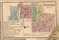 Vandalia, Michigan 1860 Old Town Map Custom Print - Cass Co.