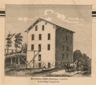 Herndon Mills, Michigan 1860 Old Town Map Custom Print - Cass Co.
