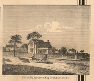 Residence of J.M. Spencer, Michigan 1860 Old Town Map Custom Print - Cass Co.