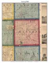 Antwerp, Michigan 1860 Old Town Map Custom Print - Van Buren Co.