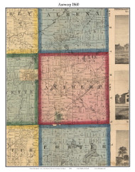 Antwerp, Michigan 1860 Old Town Map Custom Print - Van Buren Co.