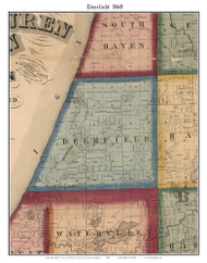 Deerfield, Michigan 1860 Old Town Map Custom Print - Van Buren Co.