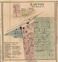 Lawton, Michigan 1860 Old Town Map Custom Print - Van Buren Co.