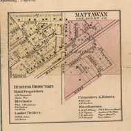 Mattawan, Michigan 1860 Old Town Map Custom Print - Van Buren Co.