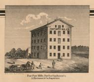 Paw Paw Mills, Michigan 1860 Old Town Map Custom Print - Van Buren Co.