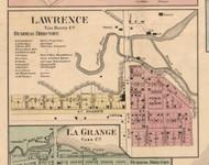 Lawrence Village, Michigan 1860 Old Town Map Custom Print - Van Buren Co.