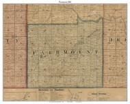 Fairmount, Indiana 1861 Old Town Map Custom Print - Grant Co.