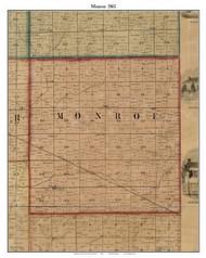 Monroe, Indiana 1861 Old Town Map Custom Print - Grant Co.