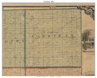 Van Buren, Indiana 1861 Old Town Map Custom Print - Grant Co.