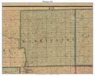 Washington, Indiana 1861 Old Town Map Custom Print - Grant Co.