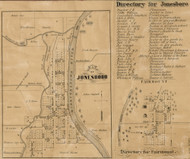 Jonesboro Village, Mill, Indiana 1861 Old Town Map Custom Print - Grant Co.