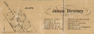 Jalapa Villlage, Pleasant, Indiana 1861 Old Town Map Custom Print - Grant Co.