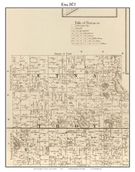 Etna, Indiana 1873 Old Town Map Custom Print - Whitley Co.