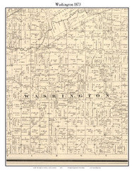 Washigton, Indiana 1873 Old Town Map Custom Print - Whitley Co.