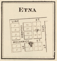 Etna Village, Etna, Indiana 1873 Old Town Map Custom Print - Whitley Co.