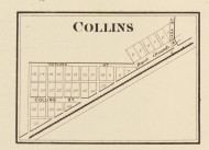 Collins Village, Smith, Indiana 1873 Old Town Map Custom Print - Whitley Co.