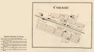 Coesse Village, Union, Indiana 1873 Old Town Map Custom Print - Whitley Co.
