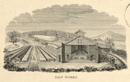 Salt Works 1852, New York 1852 Old Town Map Custom Print - Onondaga Co.