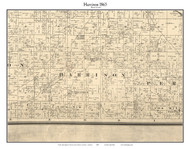 Harrison, Indiana 1865 Old Town Map Custom Print - Boone Co.