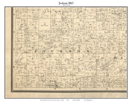 Jackson, Indiana 1865 Old Town Map Custom Print - Boone Co.