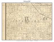 Jefferson, Indiana 1865 Old Town Map Custom Print - Boone Co.
