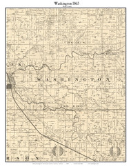 Washington, Indiana 1865 Old Town Map Custom Print - Boone Co.