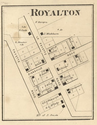 Royalston Village, Eagle, Indiana 1865 Old Town Map Custom Print - Boone Co.