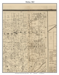 Medina, Indiana 1865 Old Town Map Custom Print - Warren Co.