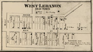 West Lebanon (Old Town) Village, Pike, Indiana 1865 Old Town Map Custom Print - Warren Co.