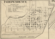 Independence Village, Warren, Indiana 1865 Old Town Map Custom Print - Warren Co.